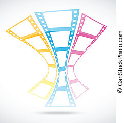 film strip abstract background - Vector Illustration Of film...