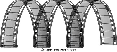 Vector illustration of film strip
