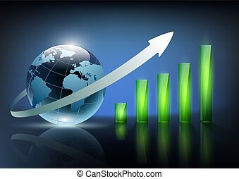 vector illustration of financial graph chart