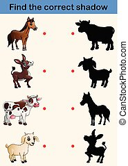 Find correct shadow farm animals collection