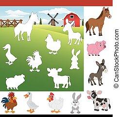 Find the correct shadow farm animals