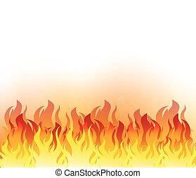 Vector Illustration of Fire Element