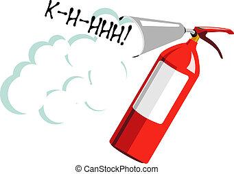 fire extinguisher - Vector illustration of fire extinguisher...
