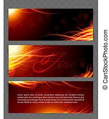 Fire glow background