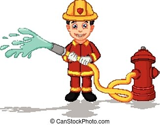 firefighters cartoon
