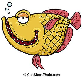 Fish - Vector illustration of Fish cartoon