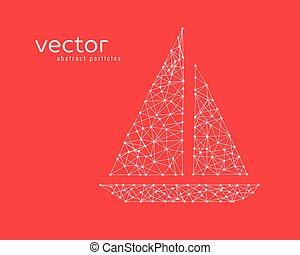Vector illustration of fishing boat.