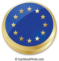 flag of European Union in crown cap