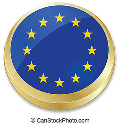 flag of European Union - vector illustration of flag of...