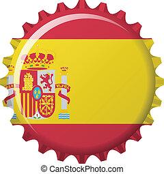 flag of Spain in crown cap