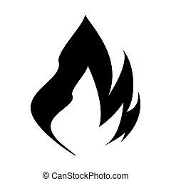 Vector illustration of flame icon