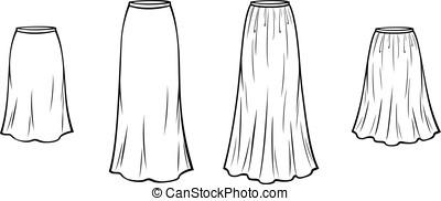 skirt - Vector illustration of flared skirt