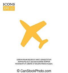 vector illustration of flat design airplane icon