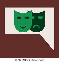 Vector illustration of flat icon film mask