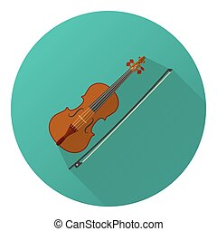 Vector illustration of flat violin