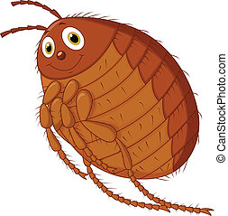 Vector illustration of Flea cartoon