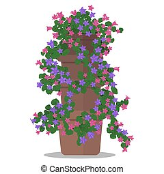 Vector illustration of floral arrangement in pot