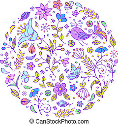 hand drawn colorful pattern