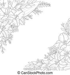 Floral hand drawn invitation card