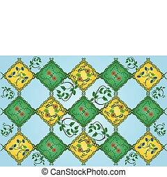 vector illustration of floral pattern