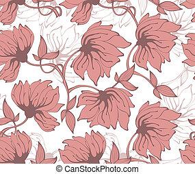 Floral seamless pattern - Vector illustration of Floral...