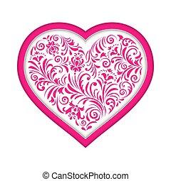 floral valentine heart