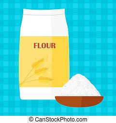 Vector illustration of flour