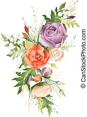 Vector illustration of flower bouquet
