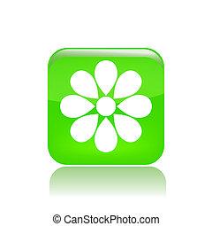 Vector illustration of flower single icon