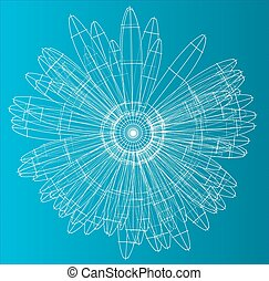 Vector illustration of flower