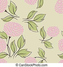 Vector illustration of flowers (Seamless Pattern)