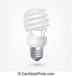 Fluorescent energy saving light bulb