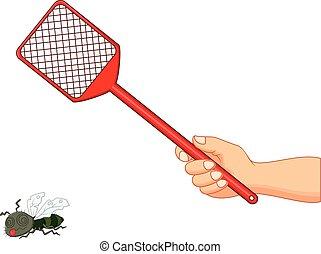 Vector illustration of Fly swatter