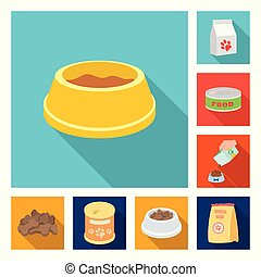 Vector illustration of food and tin logo. Set of food and bottle stock vector illustration.