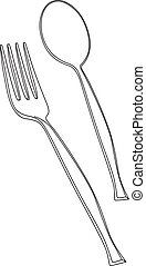 vector illustration of fork and spoon