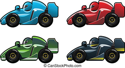vector illustration of formula 1. (Simple gradients only - no gradient mesh.)
