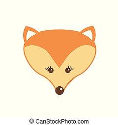Vector illustration of fox