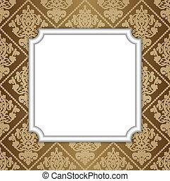 Vector illustration of frame on wal