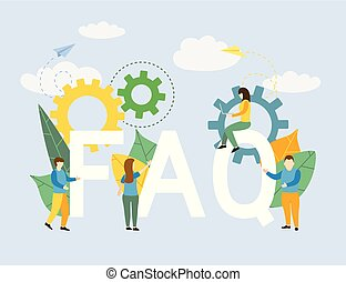 Frequently asked questions Business with letters symbols faq background