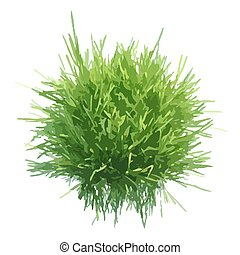 Vector illustration of fresh green grass ball