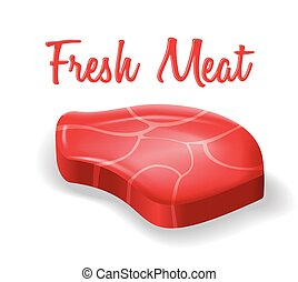 Vector illustration of fresh meat stake