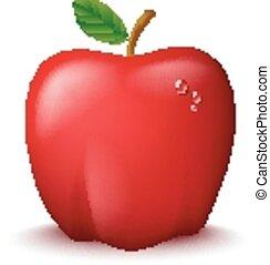 Fresh Red Apple Illustration