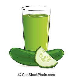 Vector illustration of fresh vegetable juice