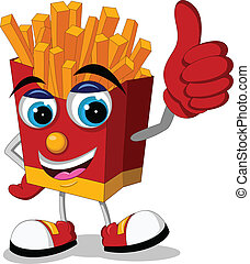 fried potatoes cartoon thumb up