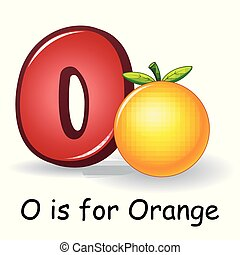 Fruit alphabet, O is for Orange