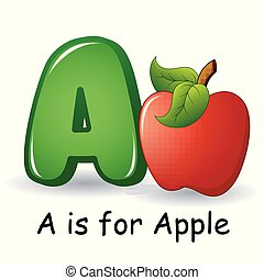 Fruits alphabet: A is for Apple Fruits