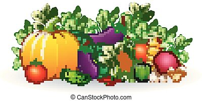 Fruits and vegetables cartoon