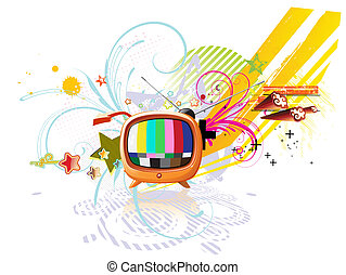 funky abstract background - Vector illustration of funky...
