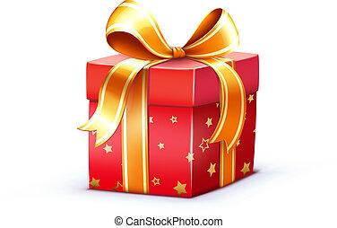 gift box - Vector illustration of funky Christmas gift box ...
