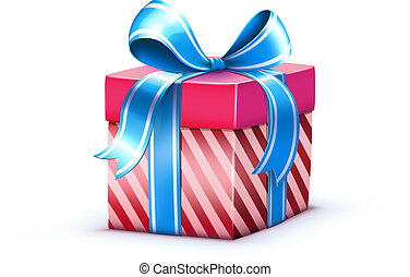 present box - Vector illustration of funky elegant present ...